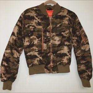 Camouflage Topshop Bomber Jacket
